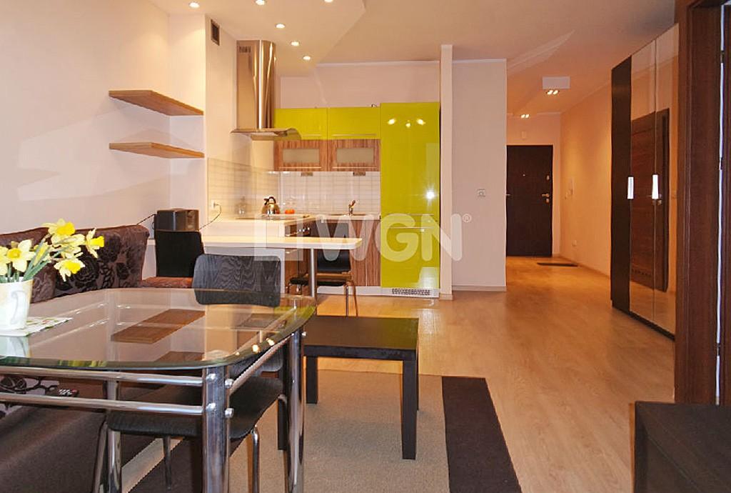 zdjęcie przedstawia luksusowy apartament w Katowicach do sprzedaży, widok z aneksu kuchennego