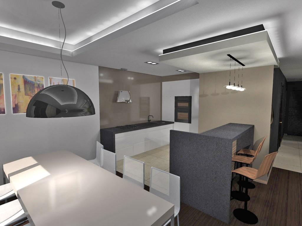 na zdjęciu wizualizacja aranżacji apartamentu do sprzedaży w Krakowie