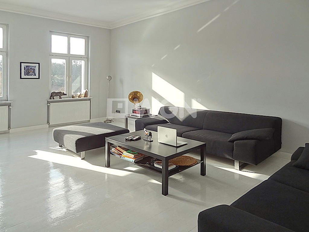 na zdjęciu salon w apartamencie do wynajęcia w Szczecinie