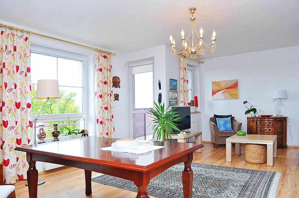 zdjęcie przedstawia salon w apartamencie w Szczecinie na sprzedaż