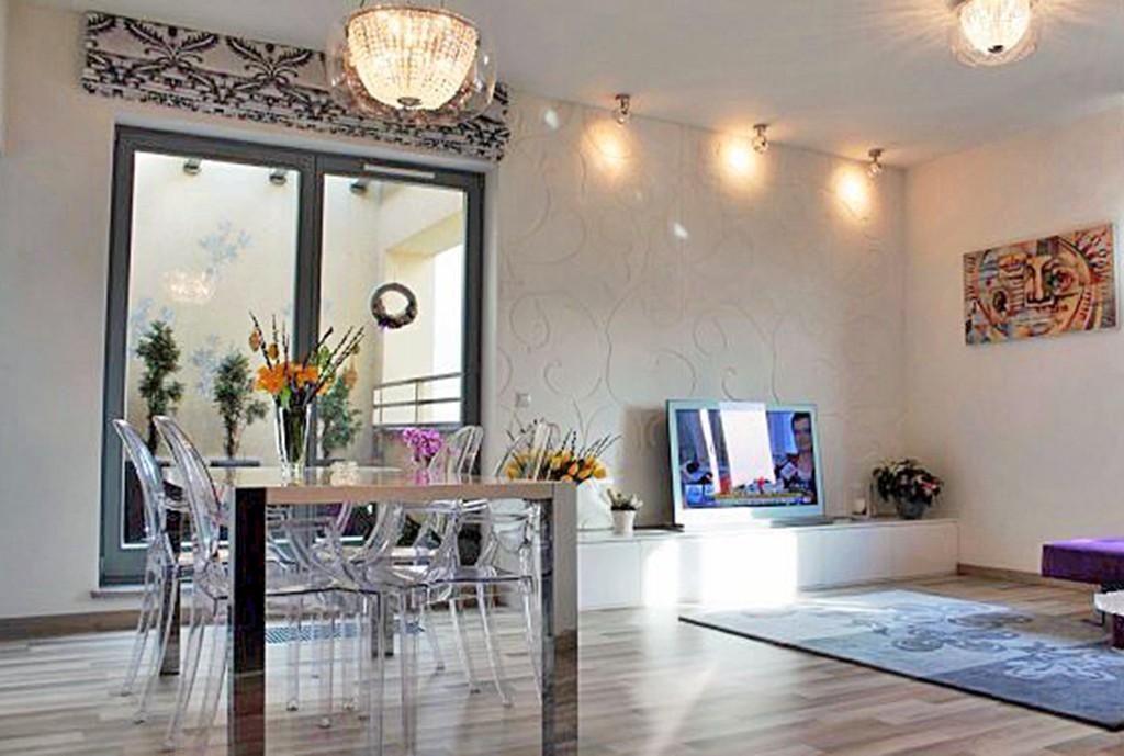 luksusowy salon w apartamencie do sprzedaży w Szczecinie