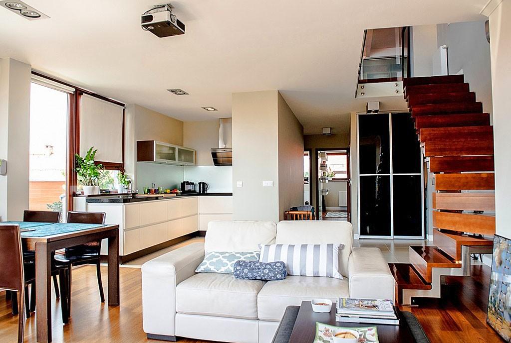 wnętrze luksusowego apartamentu na sprzedaż za 1 100 000 zł we WRocławiu