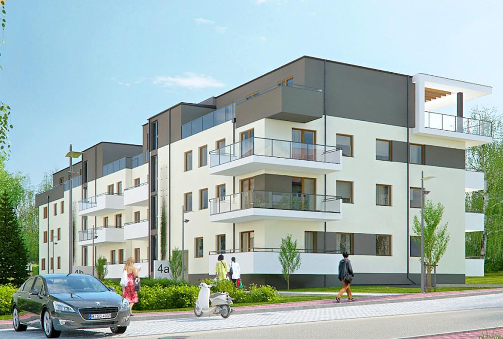 na zdjęciu widok na apartamentowiec w Częstochowie, w którym znajduje się oferowany na sprzedaż apartament