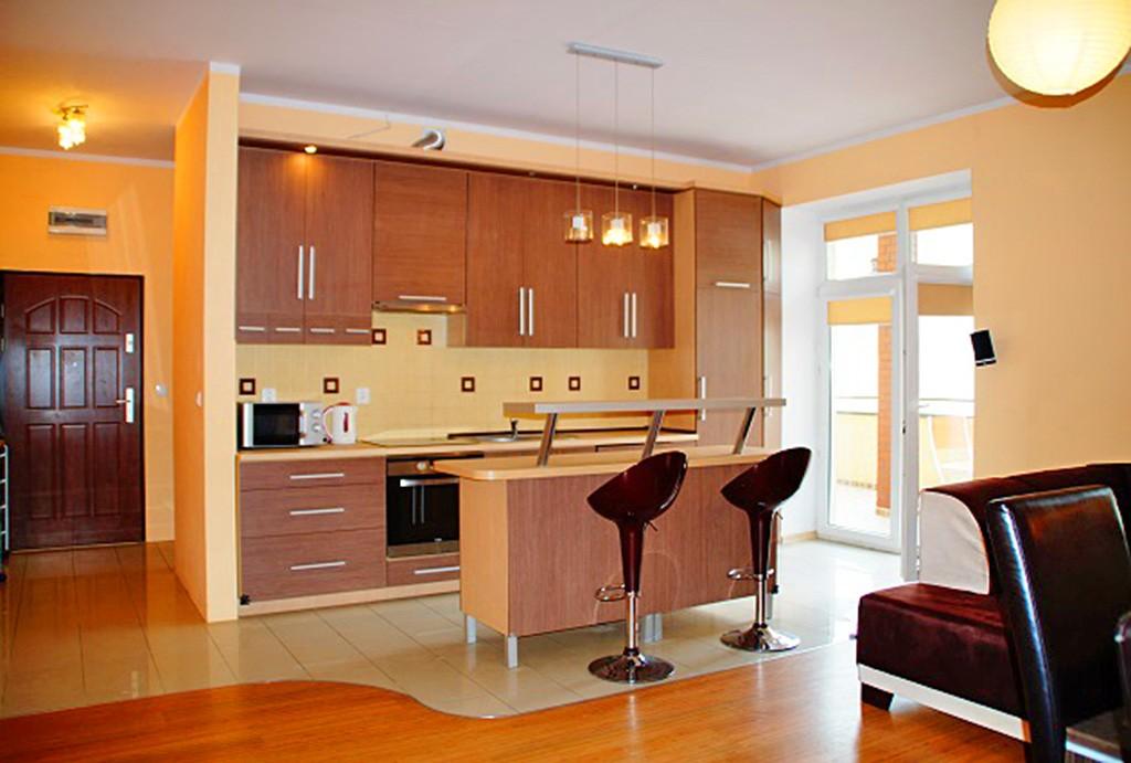 na zdjęciu luksusowe wnętrze apartamentu na wynajem w Słupsku