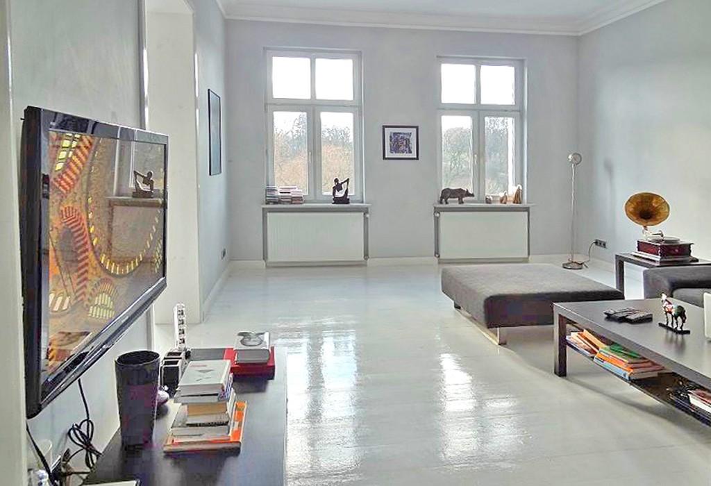 zdjęcie przedstawia salon w apartamencie do wynajmu w Szczecinie