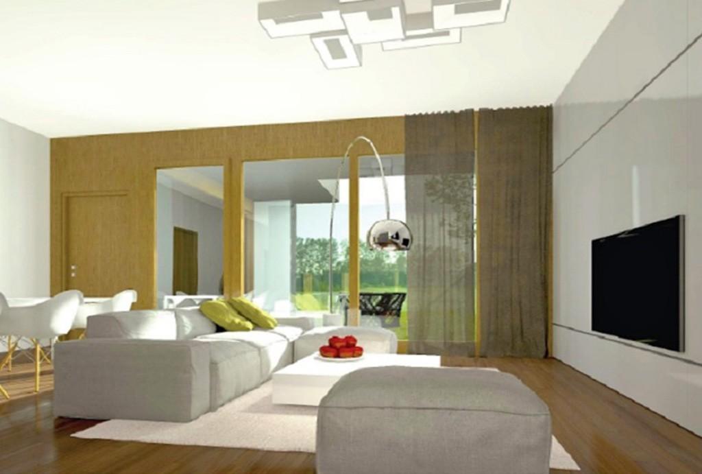 zdjęcie przedstawia luksusowy salon w apartamencie do sprzedaży w Warszawie
