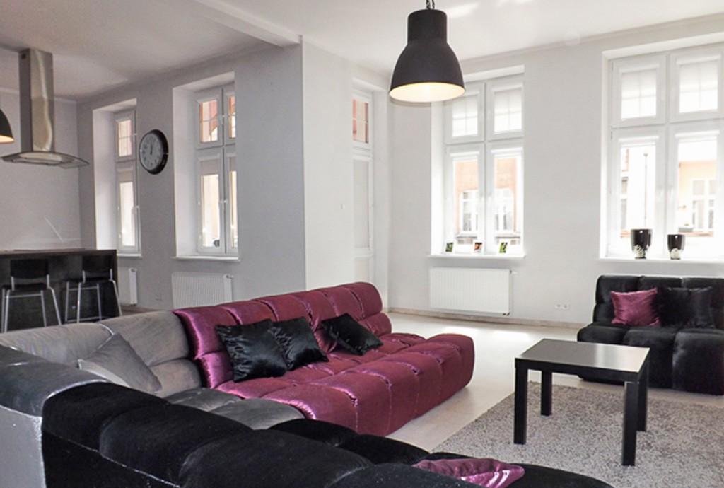 widok na ekskluzywne wnętrze apartamentu do sprzedaży w Słupsku