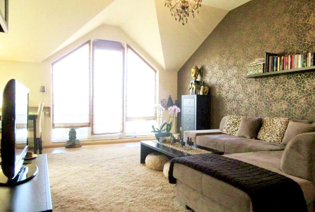 na zdjęciu salon w luksusowym apartamencie do sprzedaży w Częstochowie