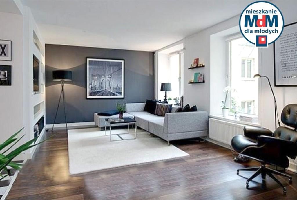 na zdjęciu przykładowa wizualizacja aranżacji wnętrze apartamentu do sprzedaży w Legnicy