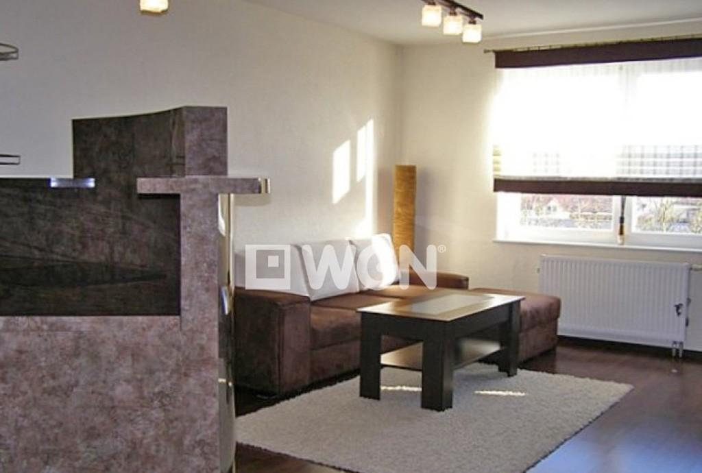 na zdjęciu komfortowy salon w apartamencie do sprzedaży nad morzem