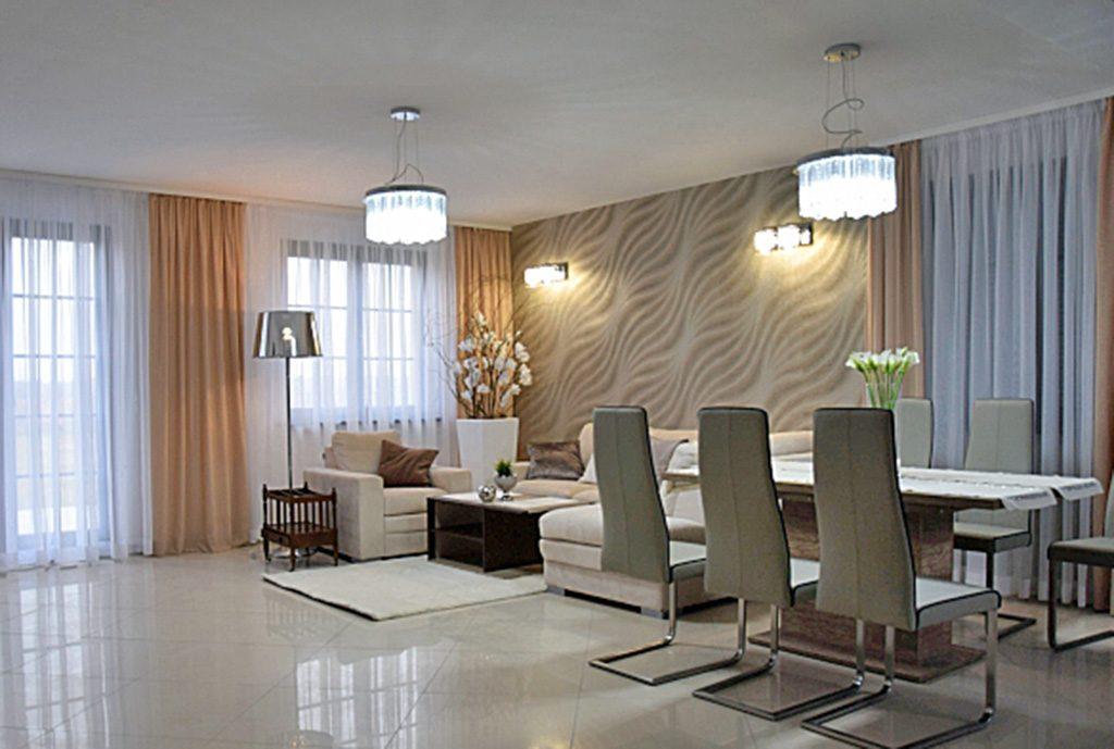 salon w ekskluzywnej willi do wynajęcia w Słupsku