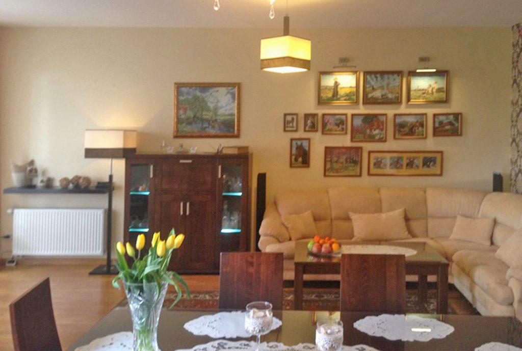 na zdjęciu luksusowy salon w ekskluzywnym apartamencie do sprzedaży w Kaliszu