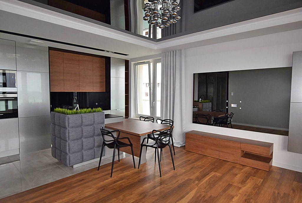 nowoczesny salon w luksusowym apartamencie do sprzedaży w Białymstoku