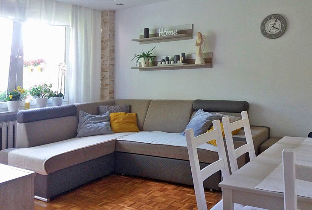fragment luksusowego salonu w ekskluzywnym apartamencie do sprzedaży w Kaliszu