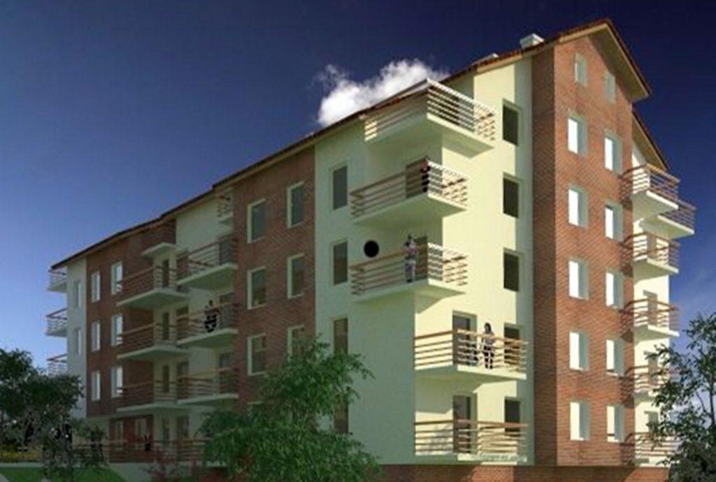 zdjęcie przedstawia ekskluzywny apartamentowiec w Katowicach, w którym znajduje się oferowany do wynajęcia luksusowy apartament