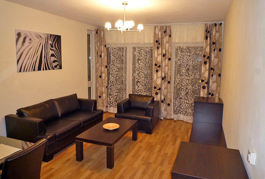 salon w luksusowym apartamencie do wynajęcia w Katowicach