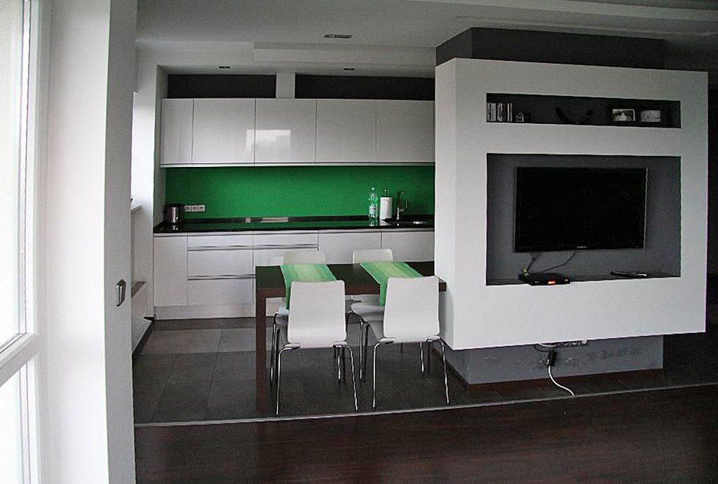 nowoczesne, dizajnerskie wnętrze luksusowego apartamentu do wynajęcia w Katowicach