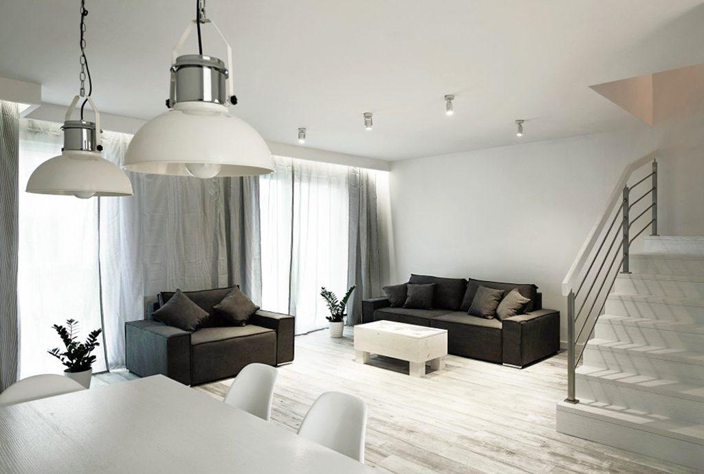 nowoczesny salon w luksusowej willi do sprzedaży w Katowicach