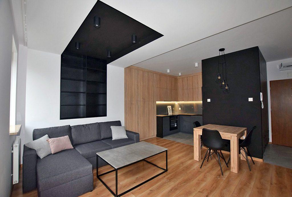 nowoczesne wnętrze ekskluzywnego apartamentu do wynajęcia w Białymstoku
