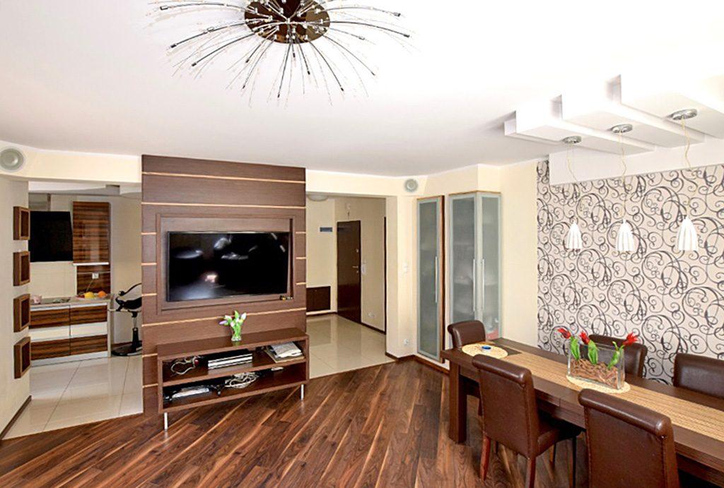 nowoczesny salon w luksusowym apartamencie do wynajęcia w Białymstoku
