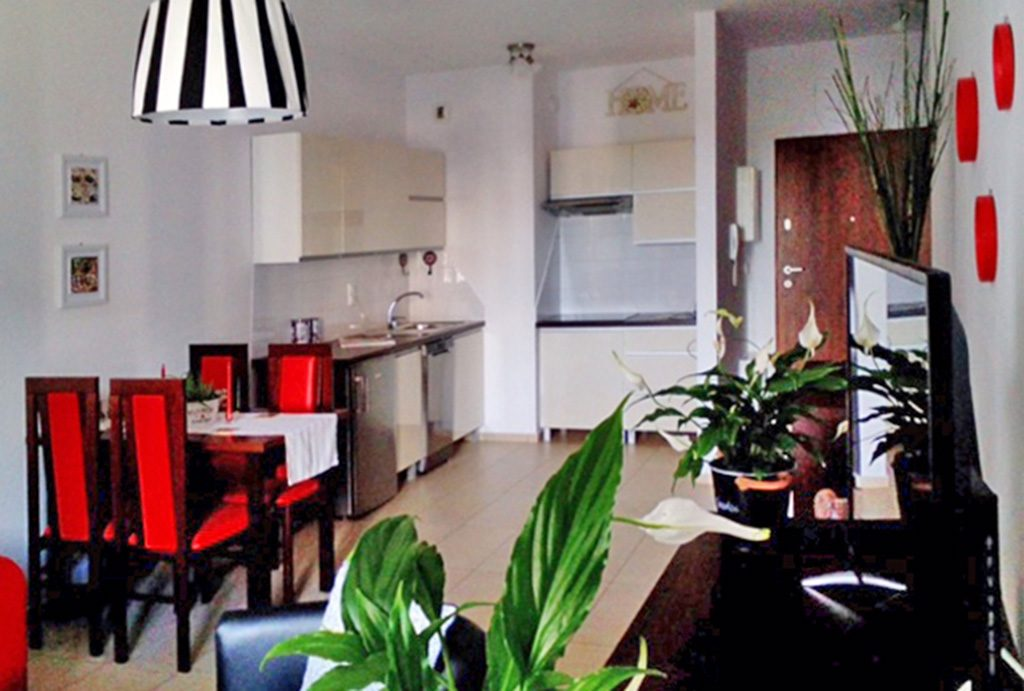 ekskluzywne wnętrze salonu w luksusowym apartamencie na wynajem w Katowicach