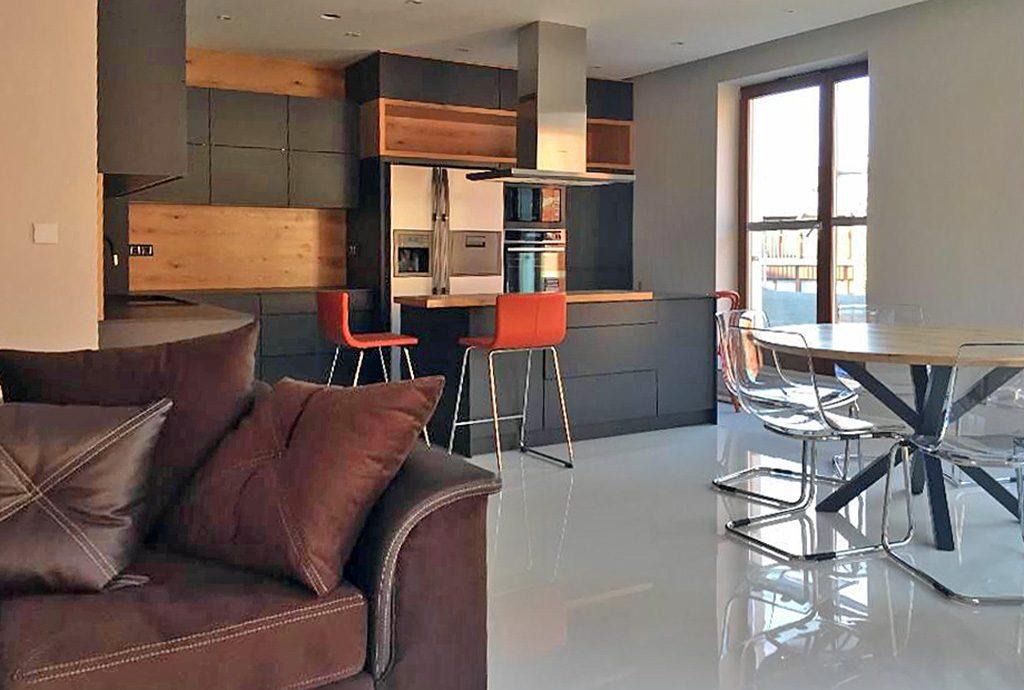 nowoczesne wnętrze luksusowego apartamentu do wynajęcia w Krakowie