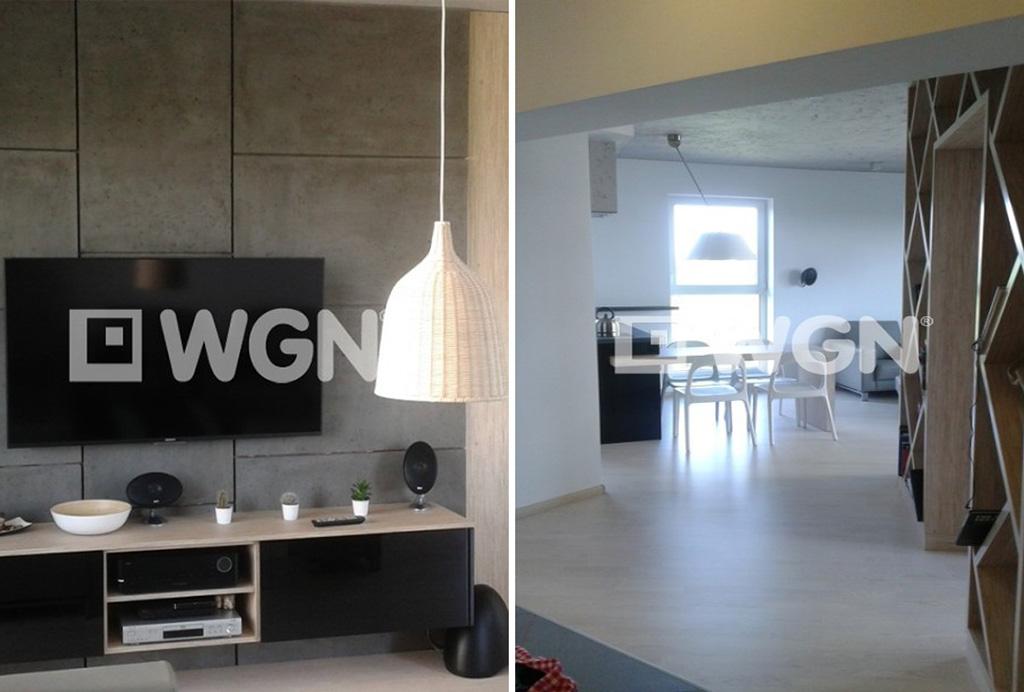 po lewej salon, po prawej przedpokój w ekskluzywnym apartamencie w Katowicach na wynajem