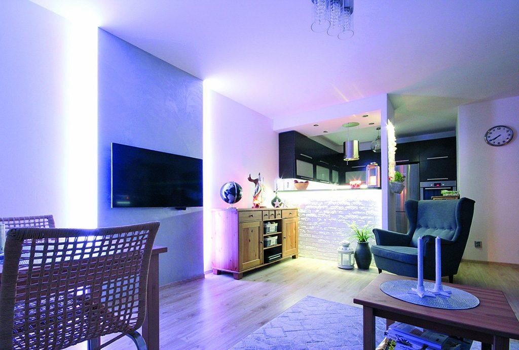 nowoczesny salon w ekskluzywnym apartamencie do sprzedaży w Szczecinie