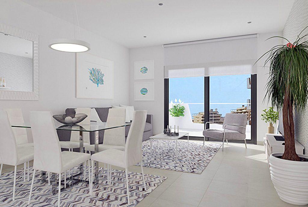 luksusowy salon w ekskluzywnym apartamencie do sprzedaży w Hiszpanii