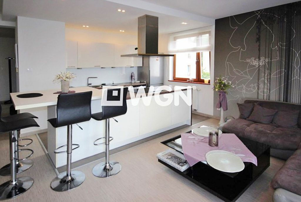 nowoczesne wnętrze kuchni w ekskluzywnym apartamencie do wynajęcia w Szczecinie