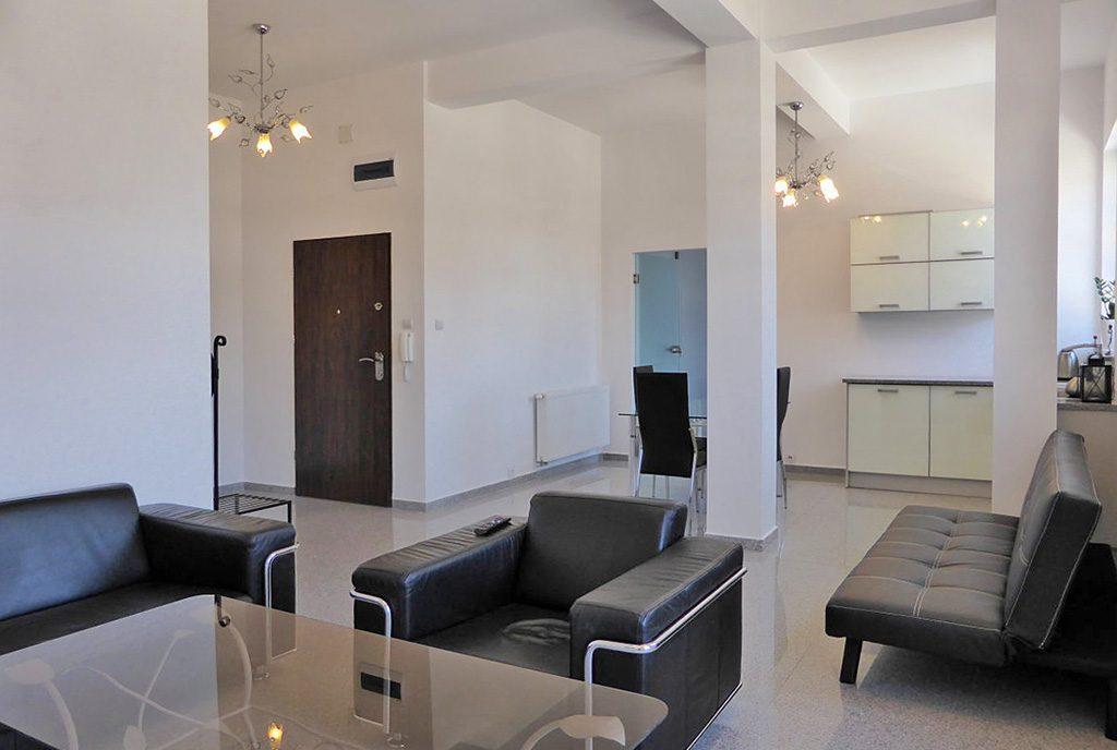 nowoczesne wnętrze luksusowego apartamentu do wynajęcia na Mazurach