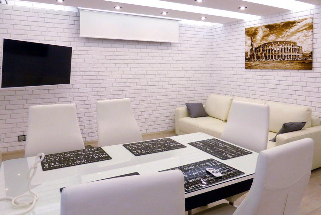 na zdjęciu ekskluzywny salon w luksusowym apartamencie do wynajęcia w Kwidzynie