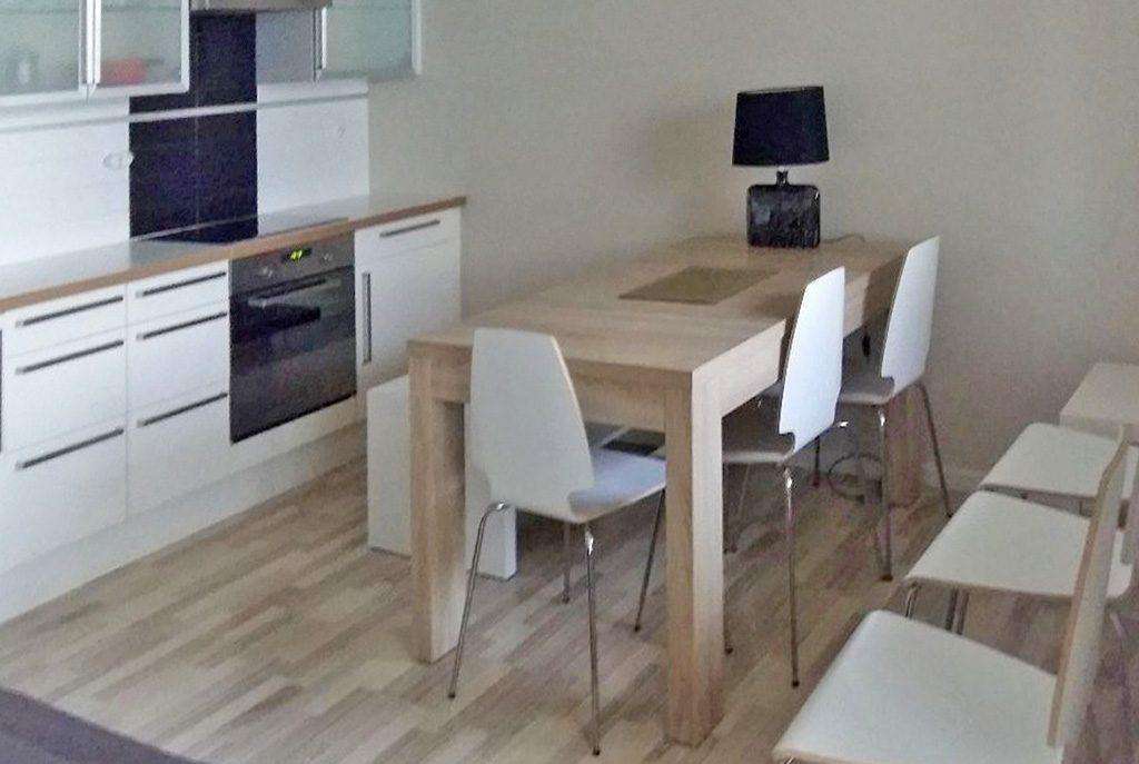nowoczesna kuchnia w ekskluzywnym apartamencie do wynajęcia w Szczecinie