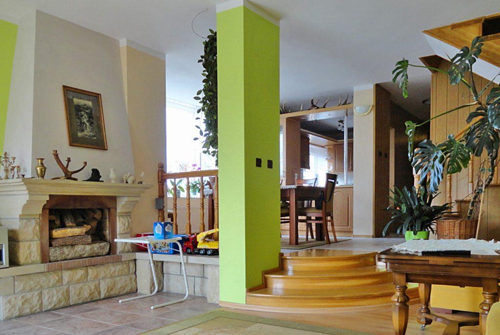 ekskluzywny salon w luksusowej willi do sprzedaży w okolicach Torunia