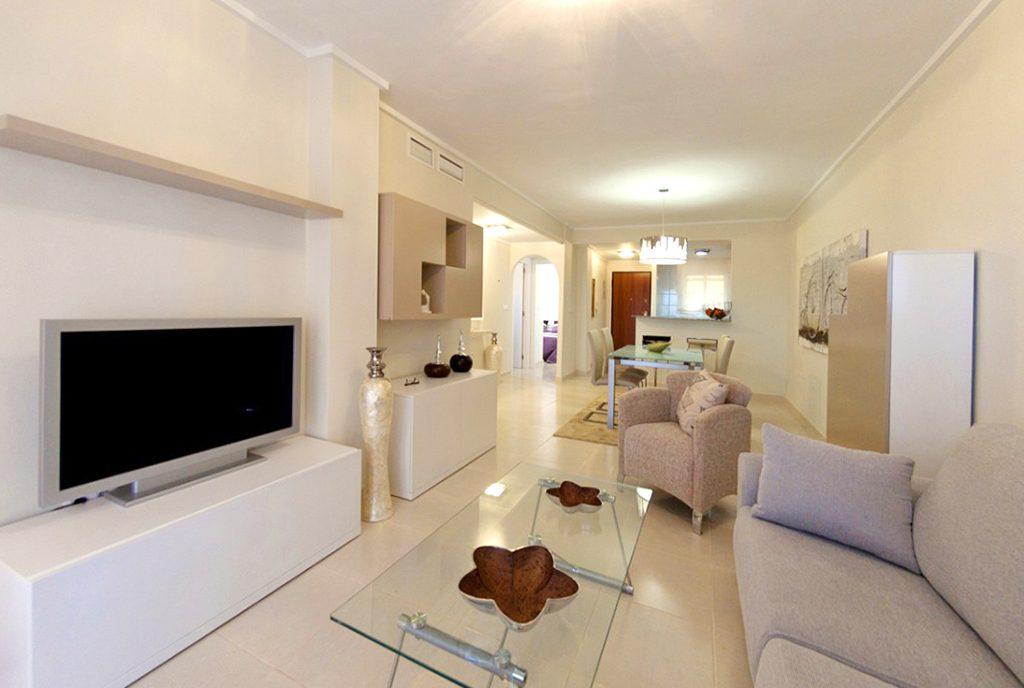 prestiżowy salon w ekskluzywnym apartamencie do sprzedaży w Hiszpanii