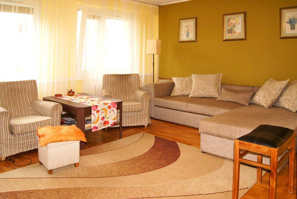stylowy salon w ekskluzywnym apartamencie do sprzedaży w Inowrocławiu