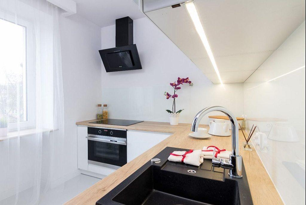 nowoczesna kuchnia w ekskluzywnym apartamencie do sprzedaży w Krakowie