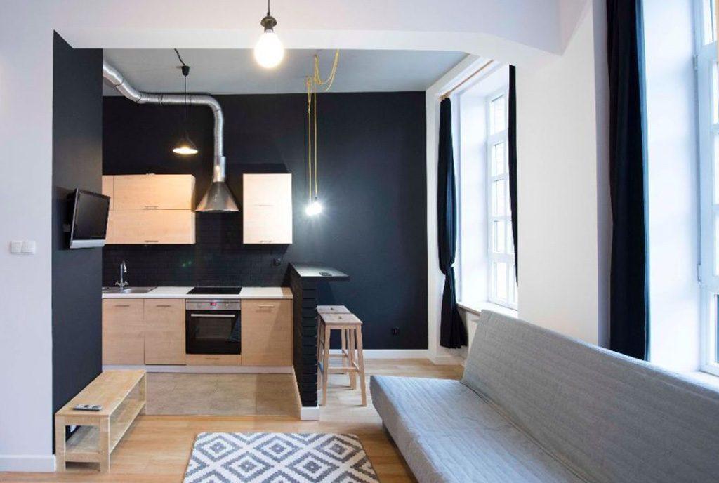 widok na aneks kuchenny w luksusowym apartamencie do sprzedaży w Białymstoku