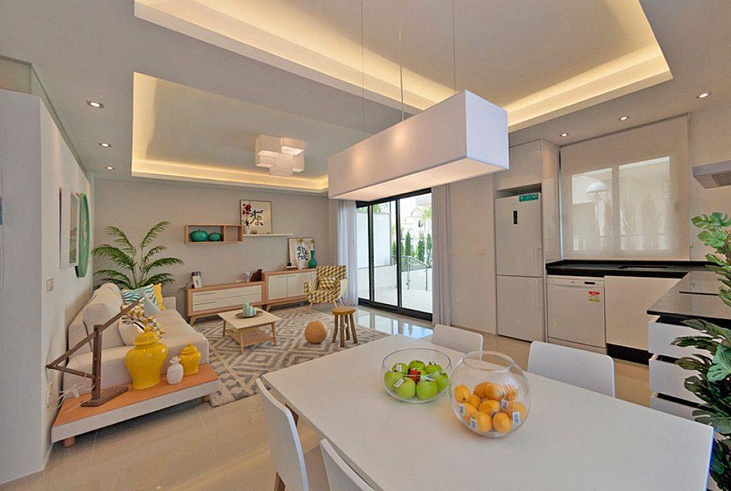 nowoczesne wnętrze ekskluzywnego apartamentu do sprzedaży w Hiszpanii