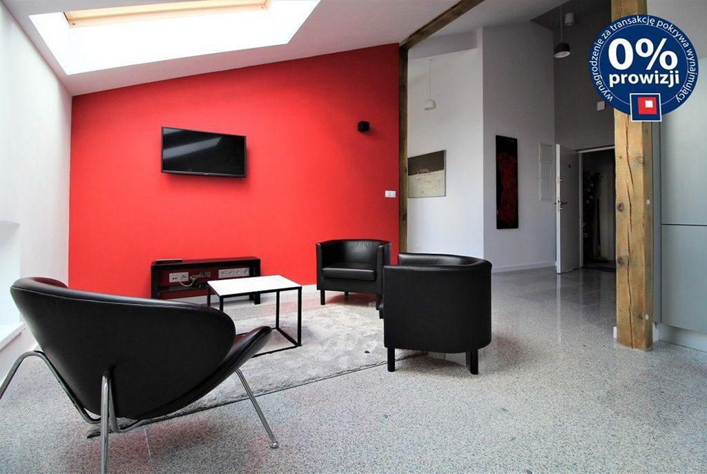nowoczesny salon w ekskluzywnym apartamencie do wynajmu w Krakowie