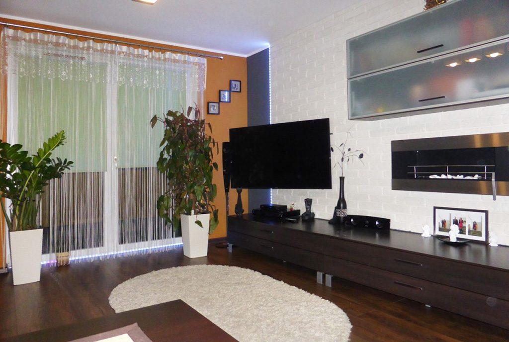 fragment ekskluzywnego salonu w luksusowym apartamencie do wynajęcia w Kwidzynie