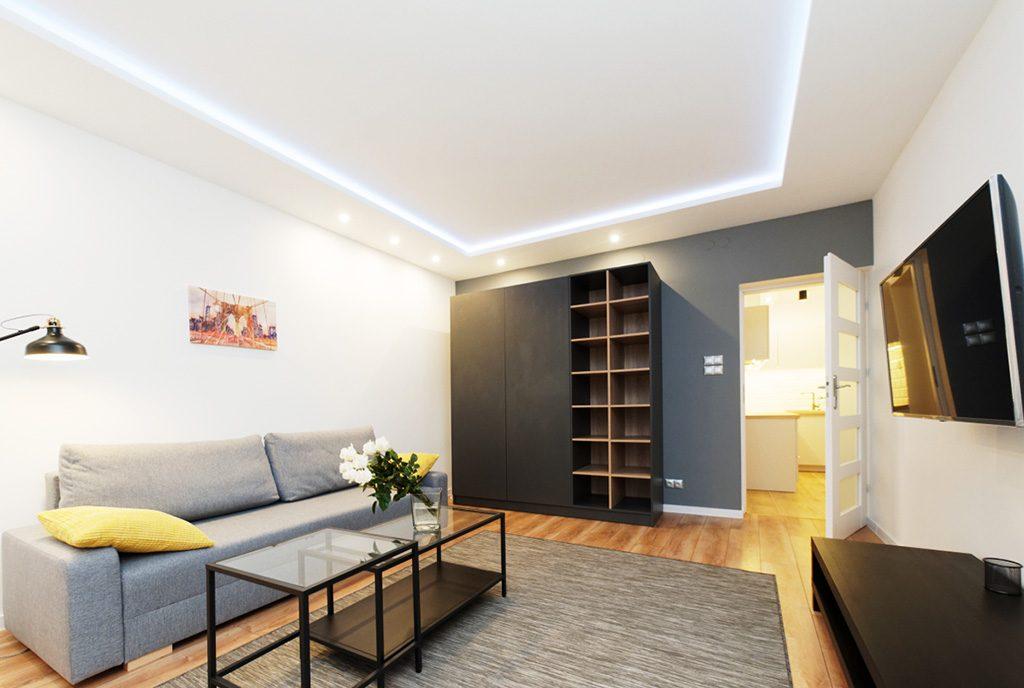 nowoczesne wnętrze ekskluzywnego apartamentu do wynajęcia w Tarnowie
