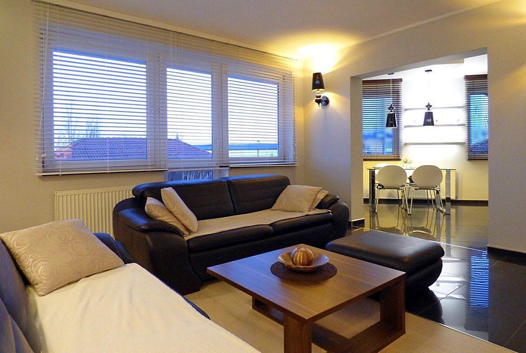 nowoczesny salon w ekskluzywnym apartamencie do sprzedaży w okolicach Szczecina