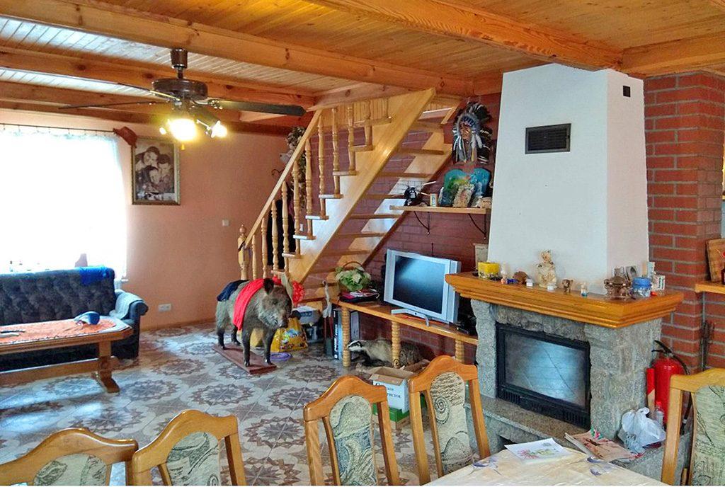 klasyczne salon w ekskluzywnej willi do wynajęcia w Kwidzynie