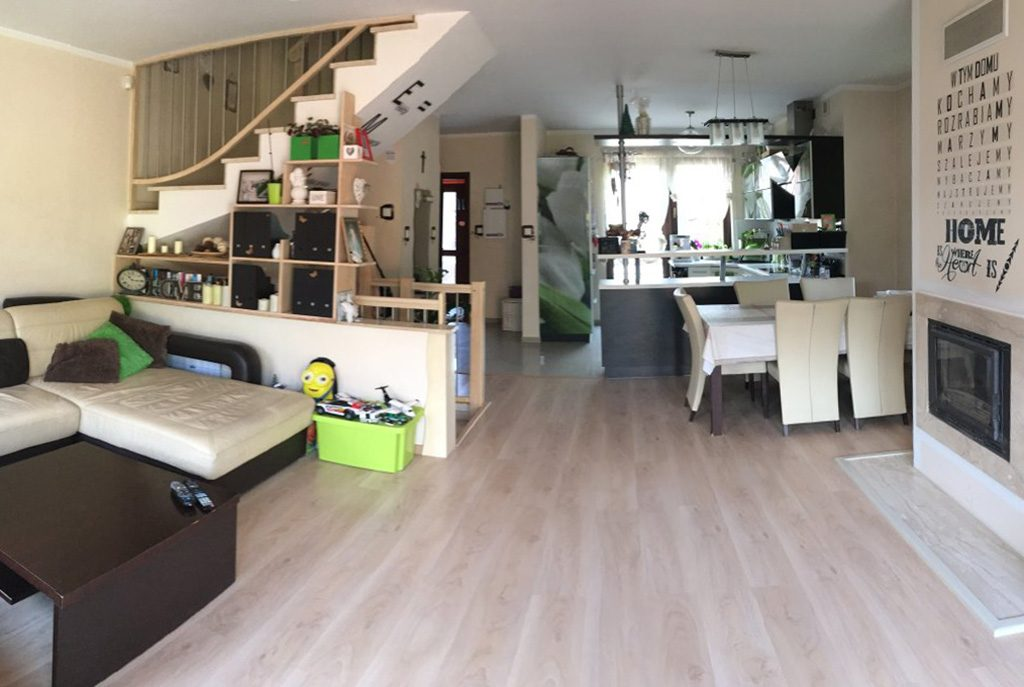 nowoczesny salon w ekskluzywnej willi do wynajęcia w Szczecinie