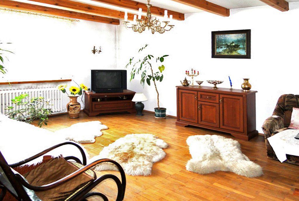 komfortowy salon w ekskluzywnej willi do sprzedaży w Inowrocławiu