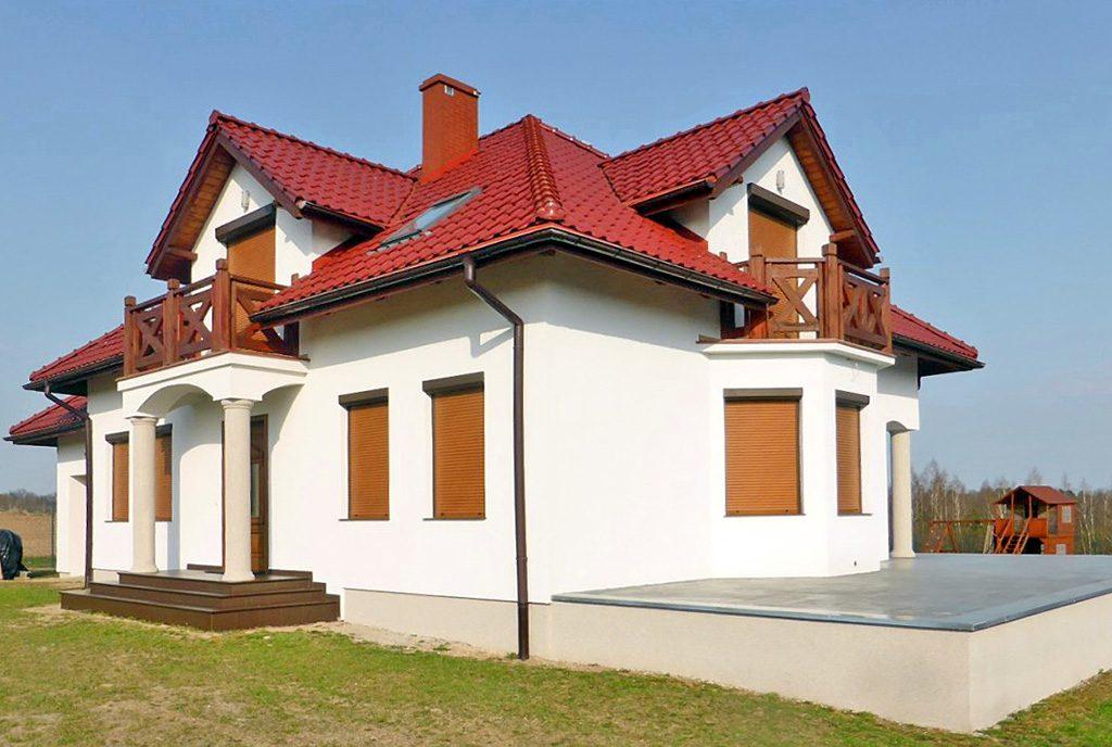 front ekskluzywnej willi do sprzedaży w okolicach Kwidzyna