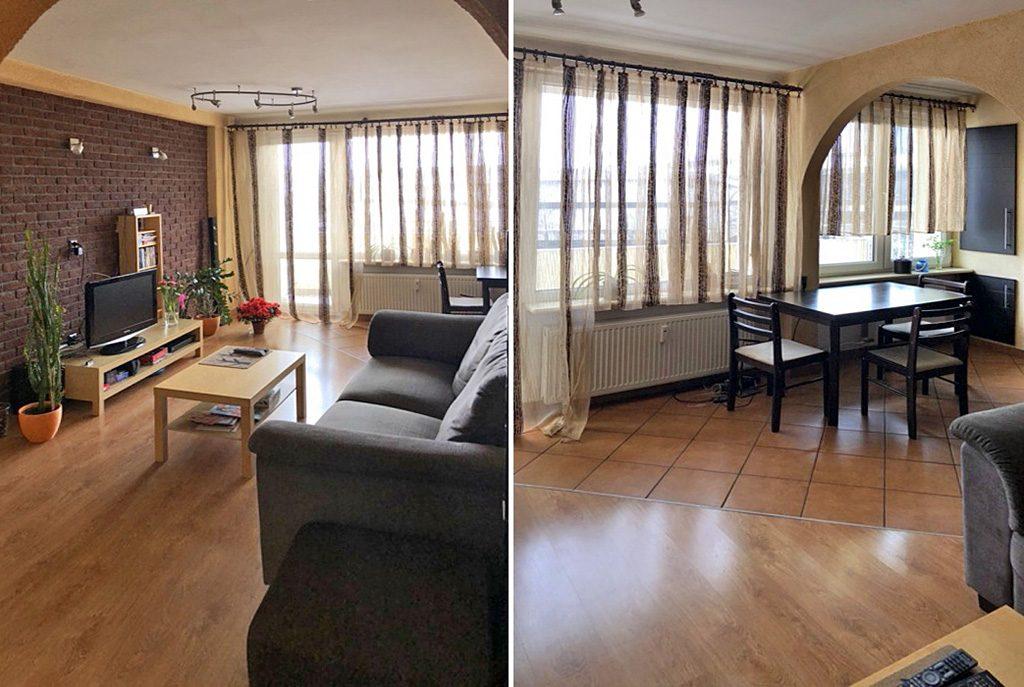 komfortowy salon w ekskluzywnym apartamencie do sprzedaży w Katowicach