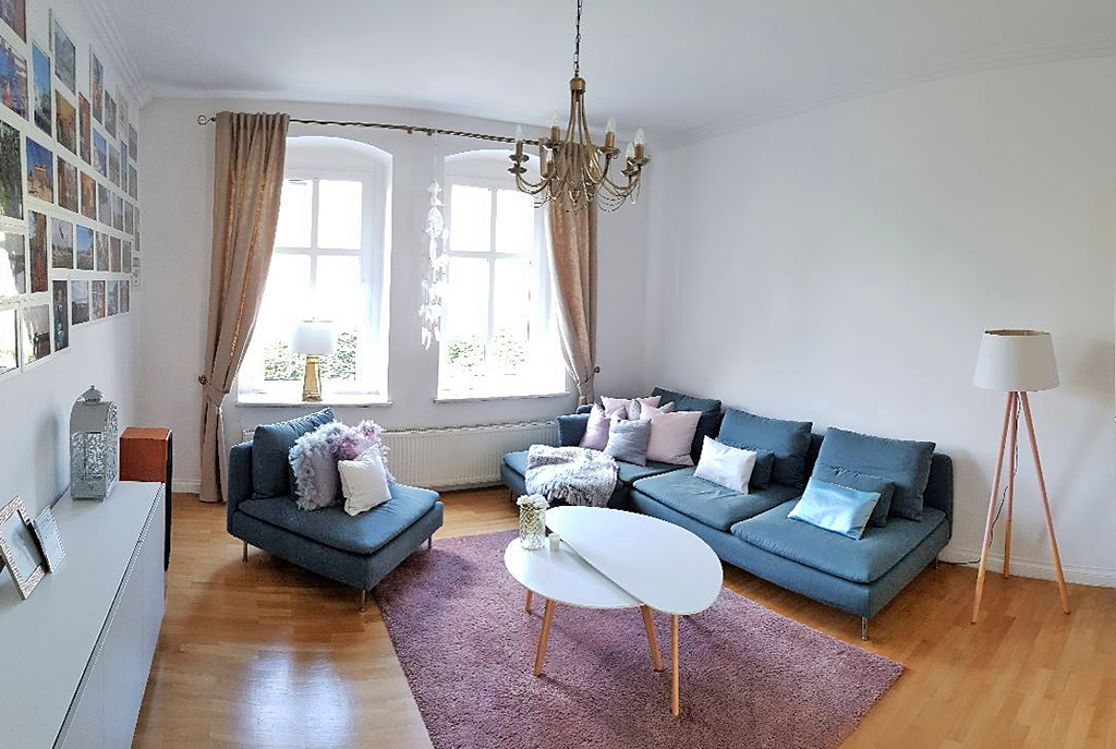prestiżowy, wytworny salon w ekskluzywnym apartamencie do sprzedaży w Katowicach