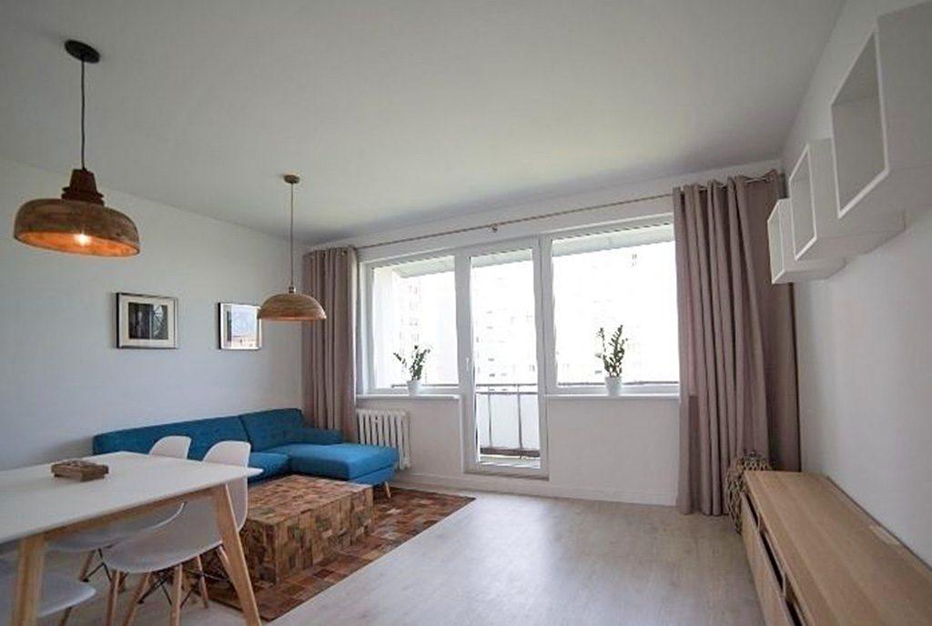 wnętrze salonu w ekskluzywnym apartamencie do sprzedaży w Szczecinie